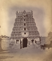 General view from outside of the west gopura of the Ramalingeshvara Temple, Rameswaram 10032338